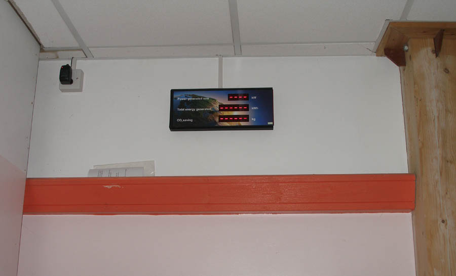 Performance display panel being installed 29th Oct 2014